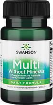 Ежедневные мультивитамины Свансон США без минералов Swanson USA Daily Multivitamin Without Minerals 30 капсул