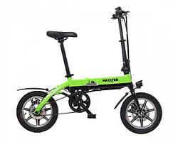 """Электрический велосипед MINI 14"""" (черно-зеленый)"""