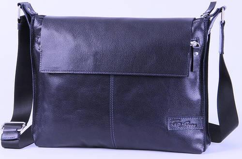 Мужская кожаная сумка с клапаном Tom Stone 504BL синий