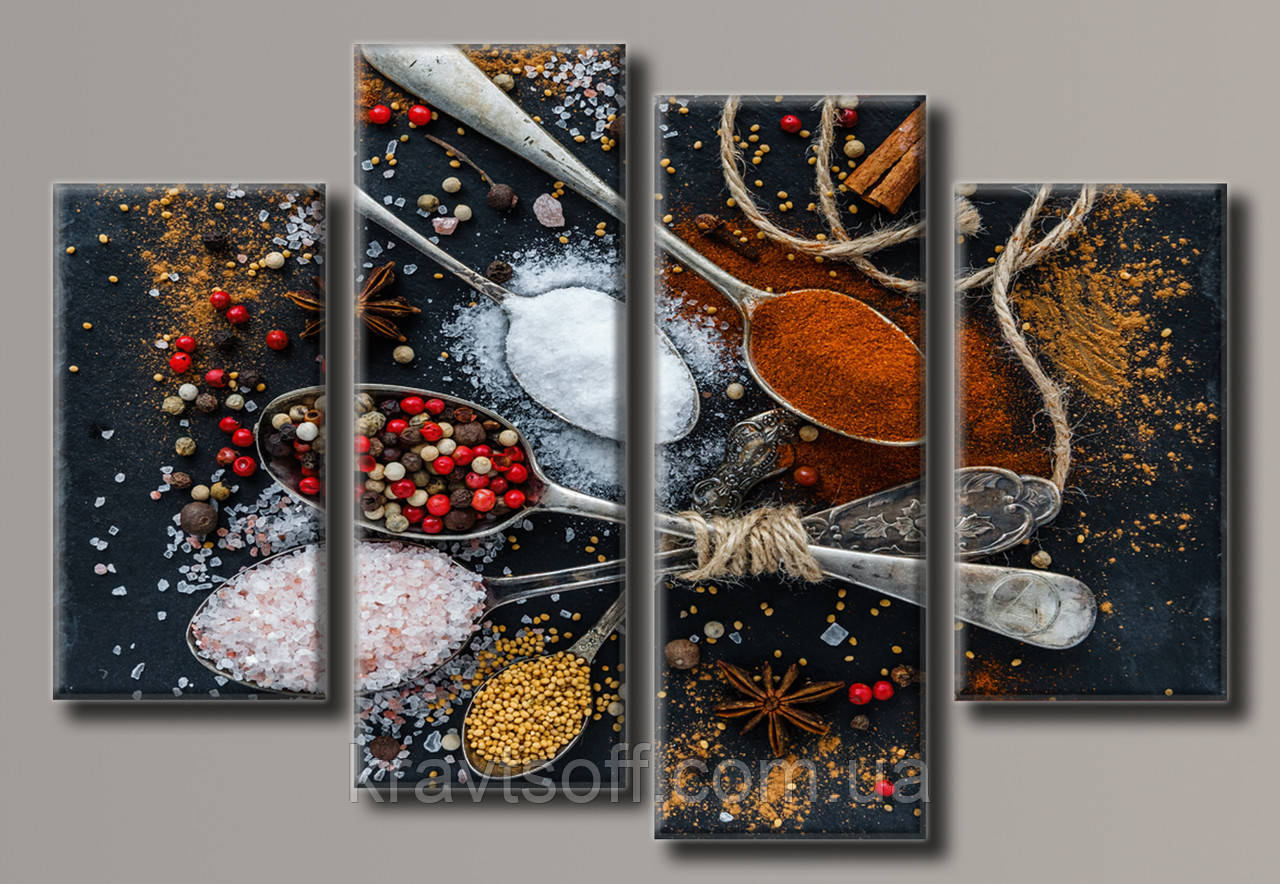 "Модульная картина на холсте из 4-х частей ""Специи"" ( 70х102 см ) арт.HAF-131"