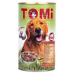 TOMi ЯГНЕНОК (lamb) консервы корм для собак, банка 1200г