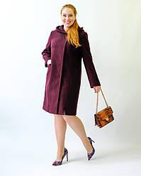 Пальто женское демисезонное, кашемировое, батал 2178 | 50, 52, 54, 56, 58, 60 размеры