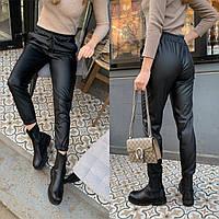 Р 42-48 Кожаные брюки-джоггеры 23674