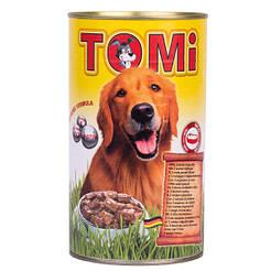 TOMi 3 ВИДА ПТИЦЫ (3 kinds of poultry) консервы корм для собак, банка 1200г