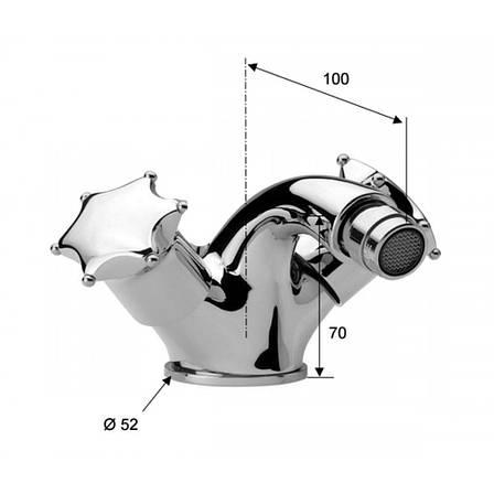 Смеситель для биде з клапаном DANIEL MISS MI6200CR, фото 2