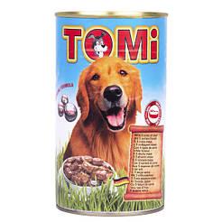 TOMi 5 ВИДОВ МЯСА (5 kinds of meat) консервы корм для собак, банка 1200г