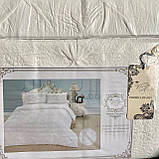 """Комплект постельного белья c двумя пододеяльниками. Семейный """"Rimbossa"""" - Эффект объёма, Натуральный - Вискоза, фото 2"""
