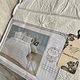 """Комплект постільної білизни з двома підодіяльніками- Сімейний """"Rimbossa"""" - Ефект об'єму  Натуральний Віскоза, фото 4"""