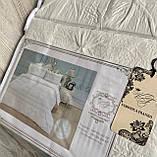 """Комплект постільної білизни з двома підодіяльніками- Сімейний """"Rimbossa"""" - Ефект об'єму  Натуральний Віскоза, фото 5"""