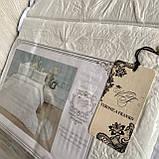 """Комплект постільної білизни з двома підодіяльніками- Сімейний """"Rimbossa"""" - Ефект об'єму  Натуральний Віскоза, фото 8"""