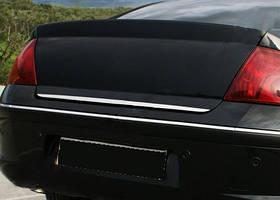 Peugeot 407 Кромка багажника (нерж) OmsaLine - Итальянская нержавейка