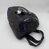 """Женский рюкзак """"ПАУТИНКА"""" школьный портфель черный, фото 7"""