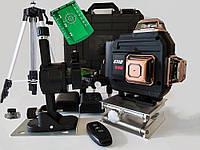 4D Лазерный Уровень - Нивелир ETIO -4D - Black + ШТАТИВ - лазерные диоды Osram. Регулировка мощности лучей.