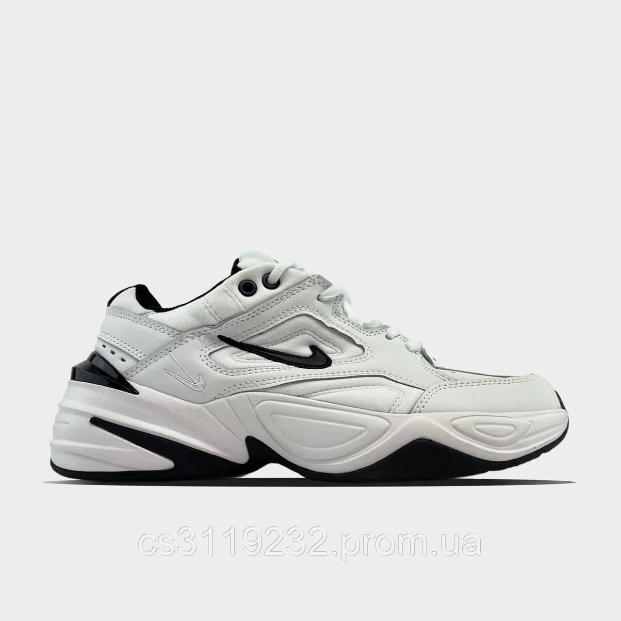 Женские кроссовки Nike M2K Tekno White Black (белые)