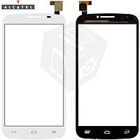 Touchscreen (сенсорный экран) для Alcatel One Touch 7041D POP C7, оригинал (белый)
