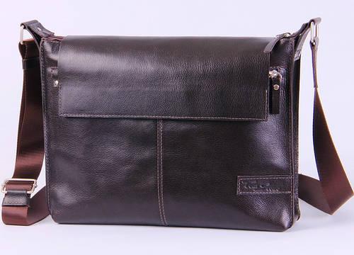 Мужская кожаная сумка с клапаном Tom Stone 504BR коричневый