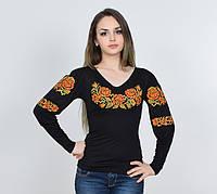 """Женская вышиванка """"Ружа"""" с оригинальными рукавами"""