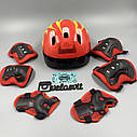 Комплект захисту для підлітків, налокітники, наколінники, рукавички+ШОЛОМ, фото 2