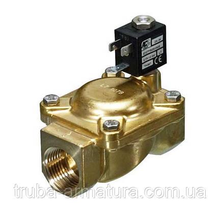 Електромагнітний нормально-відкритий клапан непрямої дії ACL E207BB10 Ду 10, фото 2