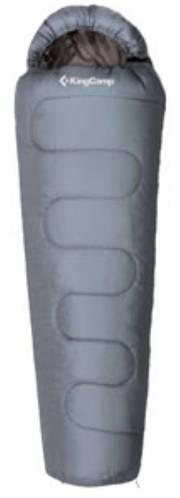 Надежный спальный мешок KingCamp Treck 450L(KS3193) / -9°C, L Grey  94850 серый