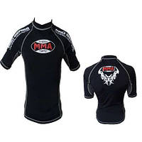 Футболка RashGuard  POWER SYSTEM  MMA - 002 DRAGON GREY