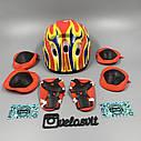 Комплект защиты для детей, налокотники, наколенники, перчатки+ШЛЕМ, фото 3