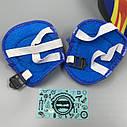 Комплект защиты для детей, налокотники, наколенники, перчатки+ШЛЕМ, фото 2