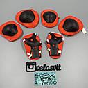 Комплект защиты для детей, налокотники, наколенники, перчатки+ШЛЕМ, фото 4
