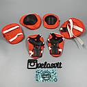 Комплект защиты для детей, налокотники, наколенники, перчатки+ШЛЕМ, фото 5