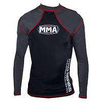 Футболка RashGuard  POWER SYSTEM  MMA - 009 COMBAT BLACK