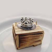 "Серебряное кольцо ""Белая корона"" с кристаллами Swarovski от WickerRing"