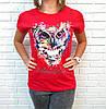 Барвиста літня футболка з совою 42-46 (в кольорах), фото 2