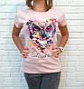 Барвиста літня футболка з совою 42-46 (в кольорах), фото 3