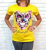 Барвиста літня футболка з совою 42-46 (в кольорах), фото 7
