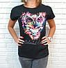 Барвиста літня футболка з совою 42-46 (в кольорах), фото 4