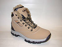 Ботинки сникерсы женские зимние на шнуровке