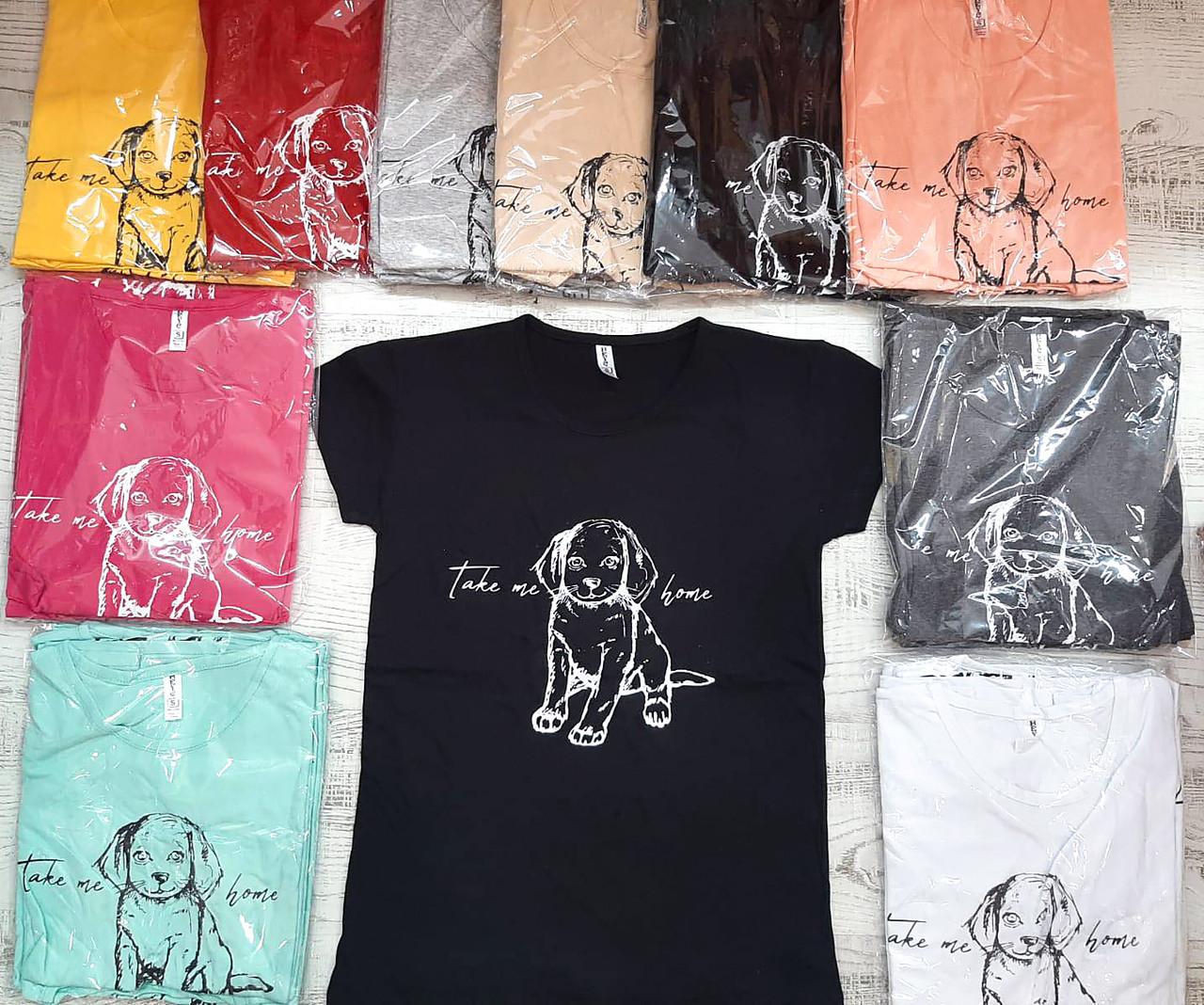 Молодежная футболка хлопок Турция 42-46 (в расцветках)