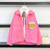 Однотонные котоновые куртки в трех расцветках.