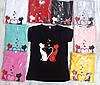 Жіноча футболка бавовняна на кожен день 42-46 (в кольорах), фото 2