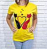 Жіноча футболка бавовняна на кожен день 42-46 (в кольорах), фото 3
