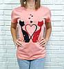 Жіноча футболка бавовняна на кожен день 42-46 (в кольорах), фото 5