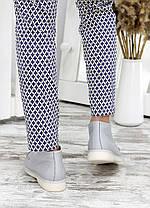 Стильні жіночі мокасини з шкіри всередині фліс колір сірий, розміри від 36 до 40, фото 3