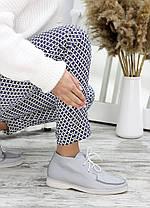 Стильні жіночі мокасини з шкіри всередині фліс колір сірий, розміри від 36 до 40, фото 2