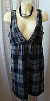 Платье женское сарафан демисезонный теплый шерсть мини бренд Atmosphere р.50 4533а