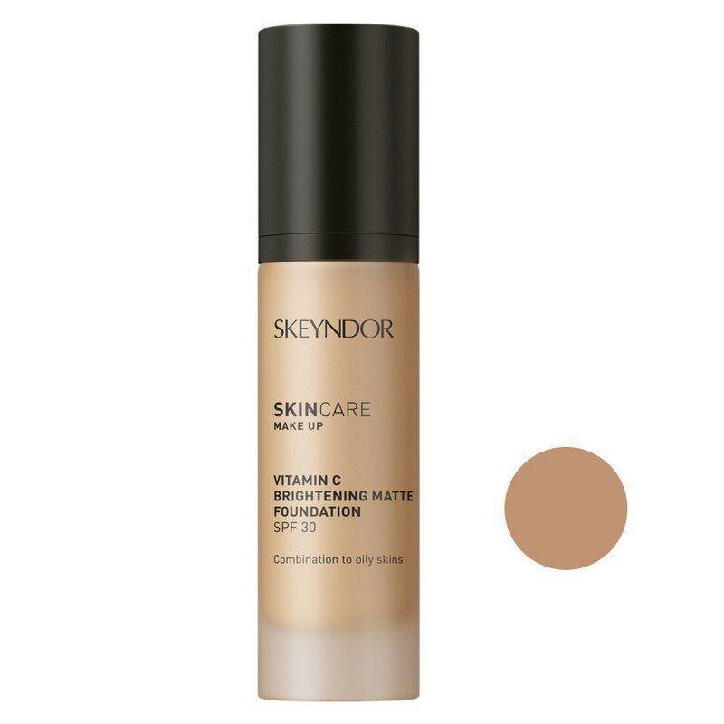 Матирующая основа для макияжа с витамином С SPF30 тон 02 Skeyndor Skincare Make Up Vitamin C Brightening Matte