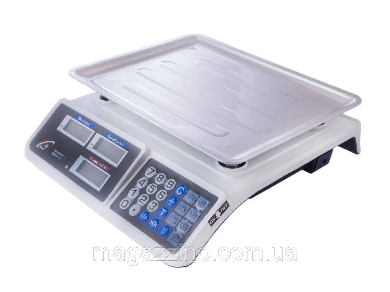 Настольные торговые весы с платформой, DT-809 , 55кг.