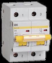 Автоматический выключатель ВА47-100 2Р  6А 10кА х-ка D IEK