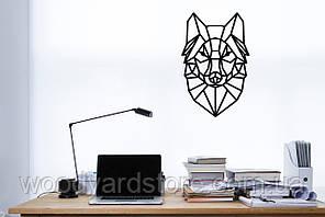 """Декоративное панно из дерева. Декор на стену """"Волк""""."""