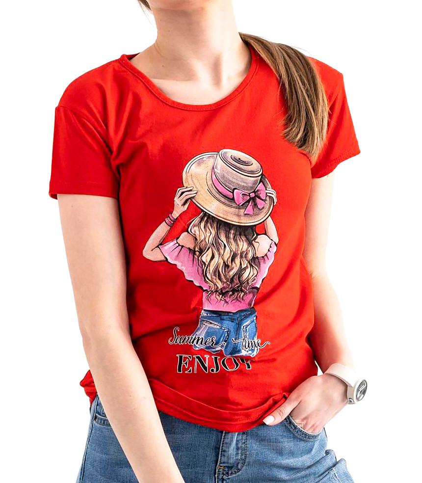 Яскрава футболка річна з малюнком 42-46 (в кольорах)