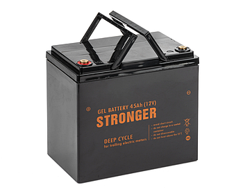 Гелевый аккумулятор STRONGER 45AH 12V, вес 13.4кг